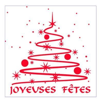 Etiquette cadeau adhesive joyeuses fetes 34x34mm par 250 01